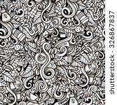 cartoon hand drawn doodles on... | Shutterstock .eps vector #326867837