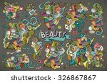colorful vector hand drawn... | Shutterstock .eps vector #326867867