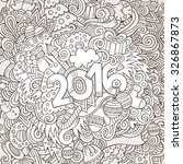 2016 year hand lettering and... | Shutterstock .eps vector #326867873