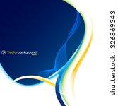 blue vector wave design vector... | Shutterstock .eps vector #326869343