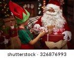 Little Helper Of St. Claus At...