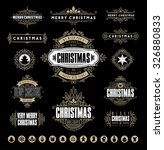 christmas typographic and... | Shutterstock .eps vector #326880833