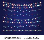 christmas lights festive... | Shutterstock .eps vector #326885657