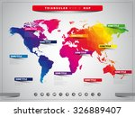 world map illustration and... | Shutterstock .eps vector #326889407