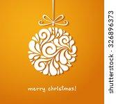 christmas decoration of swirl... | Shutterstock . vector #326896373