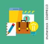 flat school set. vector... | Shutterstock .eps vector #326898113