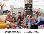 diverse group of  student... | Shutterstock . vector #326898953