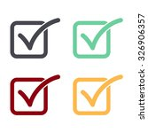 check list button icon set.   Shutterstock .eps vector #326906357