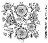 ethnic floral pattern. tribal... | Shutterstock .eps vector #326910167