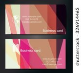 stylish business cards with... | Shutterstock .eps vector #326914463
