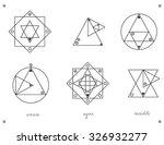 set of geometric shapes. trendy ... | Shutterstock .eps vector #326932277