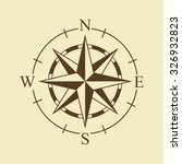 vector image of the wind rose | Shutterstock .eps vector #326932823