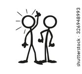 stick figure working together... | Shutterstock .eps vector #326948993