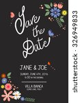 save the date | Shutterstock .eps vector #326949833