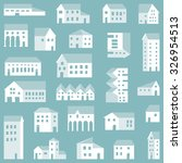 seamless small town pattern.... | Shutterstock .eps vector #326954513