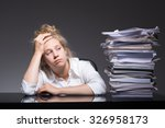 Photo Of Burnout Office Worker...