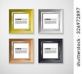 3d picture frame design image... | Shutterstock . vector #326972897