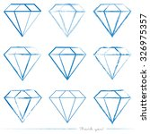 collection of painted diamond... | Shutterstock .eps vector #326975357