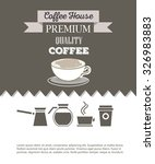 coffee and lounge website... | Shutterstock .eps vector #326983883