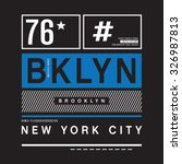 brooklyn remix typography  t... | Shutterstock .eps vector #326987813