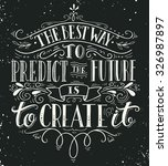 the best way to predict the... | Shutterstock .eps vector #326987897