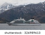 Small photo of BEAGLE CHANNEL, CHILE - DECEMBER 10: Luxury cruise ship named the Seabourn Sojourn sails on the spectacular Beagle Channel, Chile at December 10, 2012. Overcast.