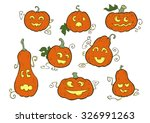 pumpkin smiles   halloween... | Shutterstock .eps vector #326991263