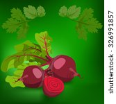 beetroot. label  there is a... | Shutterstock .eps vector #326991857