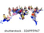 children kids ethnicity... | Shutterstock . vector #326995967