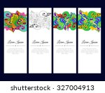 set of cards or banners with... | Shutterstock .eps vector #327004913