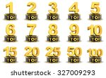 top five on white background ...   Shutterstock . vector #327009293
