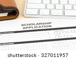 scholarship application form... | Shutterstock . vector #327011957