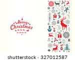 christmas retro greeting card... | Shutterstock .eps vector #327012587