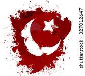 vector turkey flag  greeting... | Shutterstock .eps vector #327012647