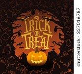 retro vintage halloween vector... | Shutterstock .eps vector #327016787