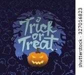 retro vintage halloween vector... | Shutterstock .eps vector #327016823