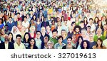 diversity large group of people ... | Shutterstock . vector #327019613