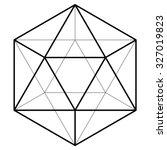 icosahedron vector illustration | Shutterstock .eps vector #327019823