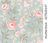 seamless floral pattern with... | Shutterstock .eps vector #327020147