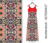 vector fashion illustration ... | Shutterstock .eps vector #327020417