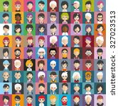 set of people icons in flat... | Shutterstock .eps vector #327023513