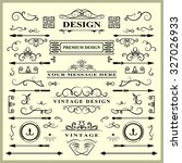 set of vintage decorations... | Shutterstock .eps vector #327026933