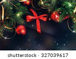 Christmas Gift With Ribbons An...