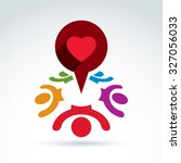 dialogue on love and health ... | Shutterstock .eps vector #327056033