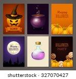 halloween banners set | Shutterstock .eps vector #327070427