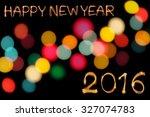 happy new year 2016 writing...   Shutterstock . vector #327074783