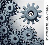 teamwork breaking out business... | Shutterstock . vector #327075317