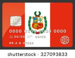 a credit card illustration with ... | Shutterstock . vector #327093833