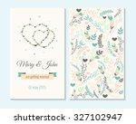 wedding invitation  thank you... | Shutterstock .eps vector #327102947