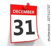 31 december calendar sheet with